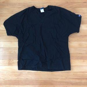 Cherokee scrub top black